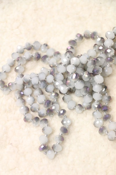 Point Of Perfection Beaded Necklace In Smoky Iris
