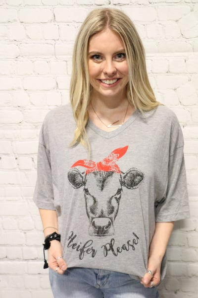 Heifer Please Cute Cow T-shirt in Multiple Colors