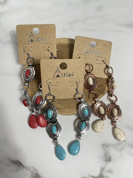 I'm A Southern Belle - Stone Earrings In Multiple Colors