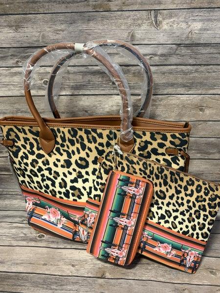 Weekend Getaway 3 Piece Shopper Bag In Multiple Prints