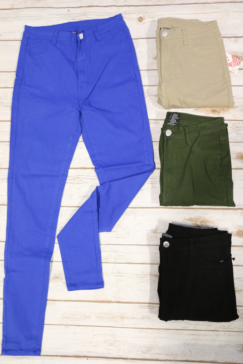The Hustle is Real High Rise Skinny Jegging in Multiple Colors - Sizes 12-24