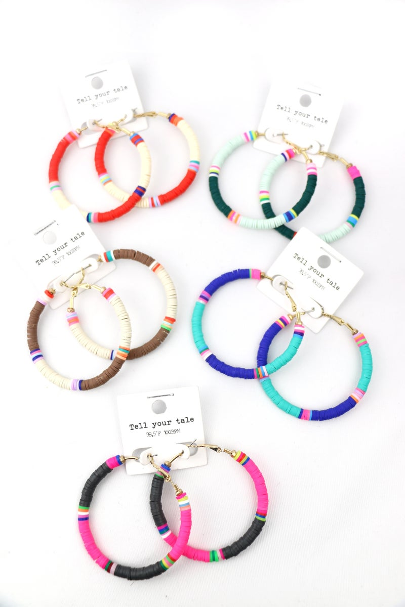 All In All Rubber Disc Hoop Earring In Multiple Colors