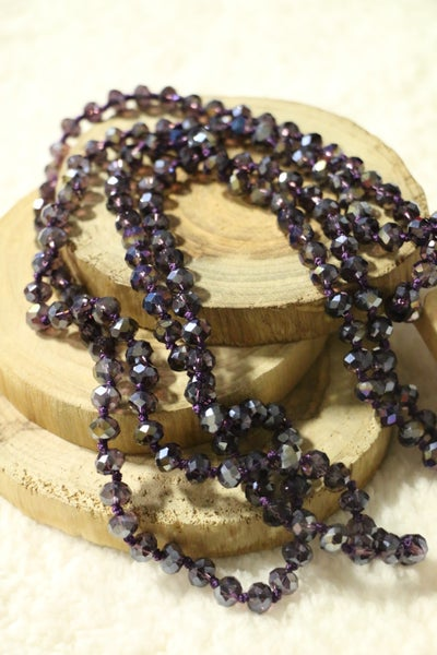 Violet Point Of Perfection Beaded Necklace
