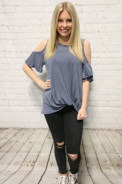 Simply Obsessed Cold Shoulder Top In Multiple Colors