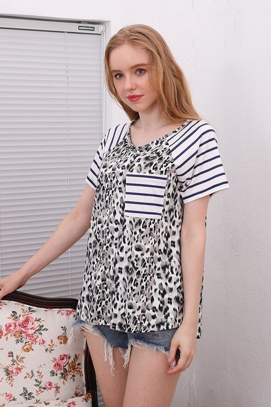Take a Chance Leopard Raglan in Multiple Colors - Sizes 12-20