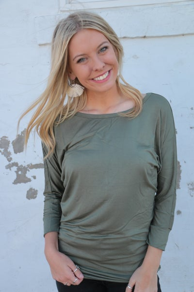 Not Your Average Dolman Top with Side Sinching in Multiple Colors Sizes 4-20