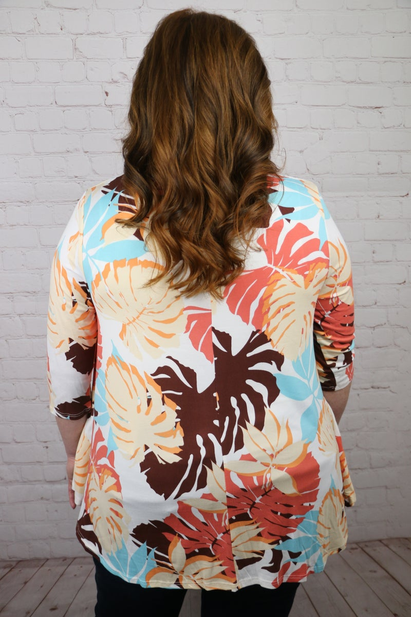 Don't Miss This Tropical Colorful Top - Sizes 12-20