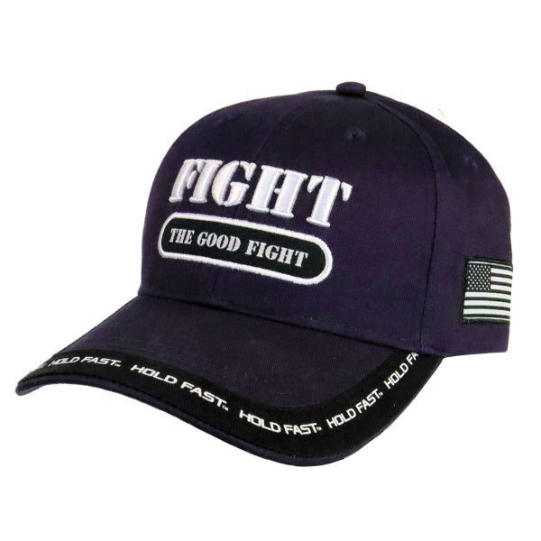 Fight the Good Fight Mens Navy Cap - One Size Fits Most