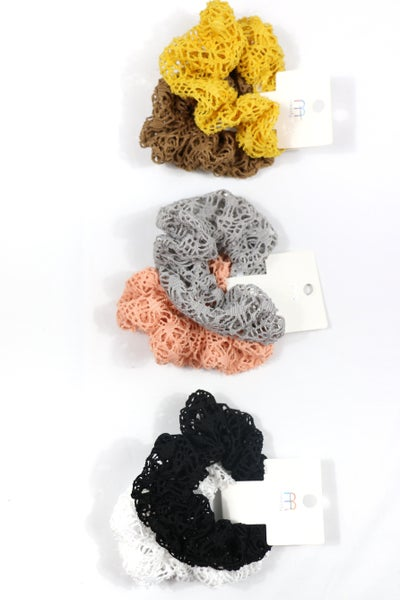 Something Simple Crochet Scrunchie Set in Multiple Colors