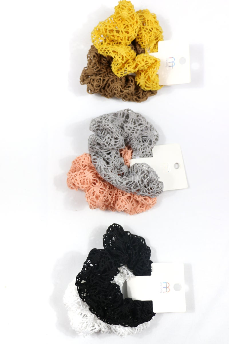 Something Simple Crochet Scrunchie Set in Multiple Colors