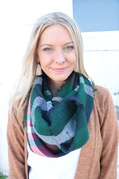 Fab In Plaid Infinity Scarf - Multiple Colors