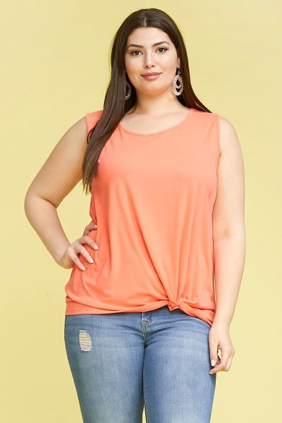 Make it Right Knotted Hem Tank Top in Multiple Colors - Sizes 12-20