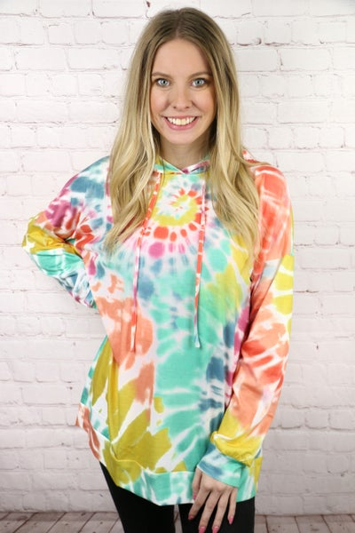 Forever Yours Tie Dye Hoodie- Sizes 4-12