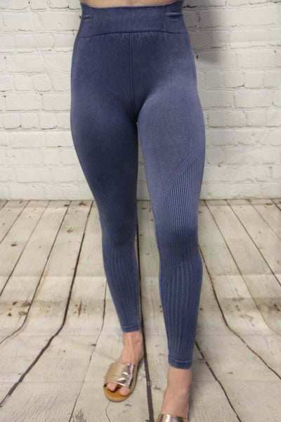 Look At Me Now Vintage Wash Leggings In Multiple Colors Sizes 4-12