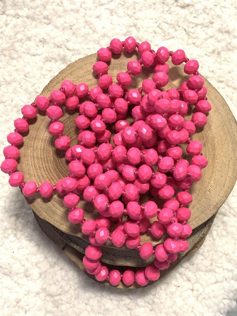 Retro Pink Point Of Perfection Beaded Necklace