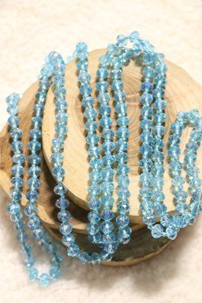 Light Aqua Marine Point Of Perfection Beaded Necklace