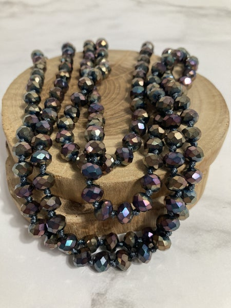 Chocolate Raisinet Point of Perfection Beaded Necklace