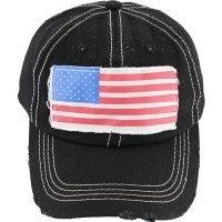 The American Dream Flag Black Baseball Cap
