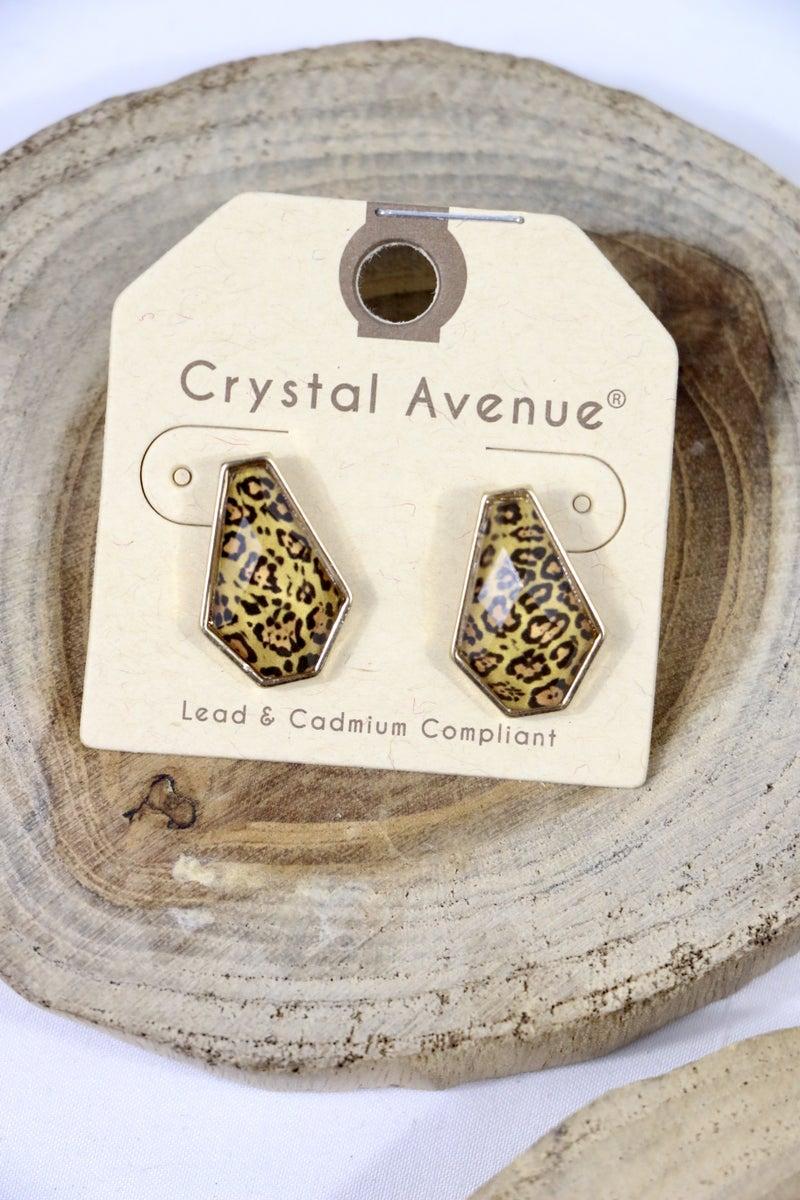 Animal Instinct Stud Earrings In Multiple Prints