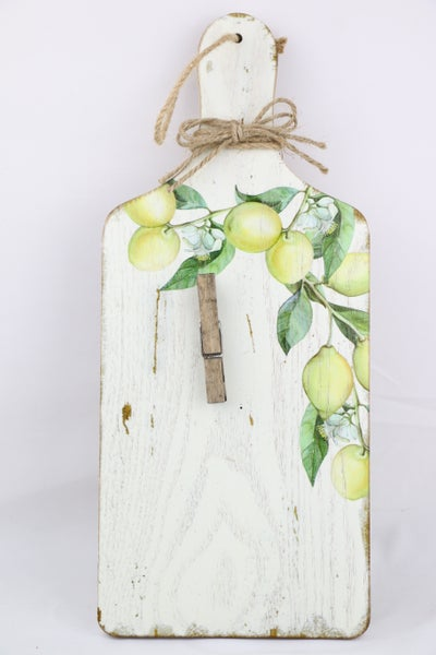 When Life Gives You Lemons Wooden Memo/Picture Holder In Lemon Print