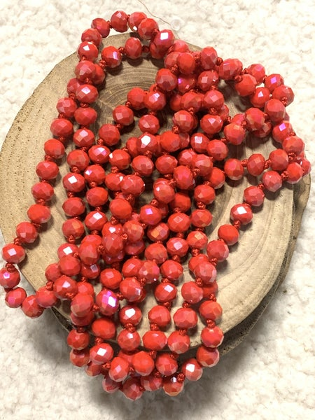 Red Raspberry Point Of Perfection Beaded Necklace