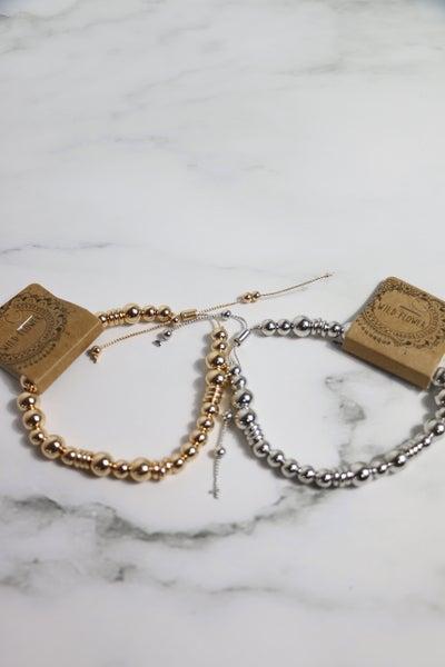 All My Love Metal Beaded Adjustable Bracelet In Multiple Colors