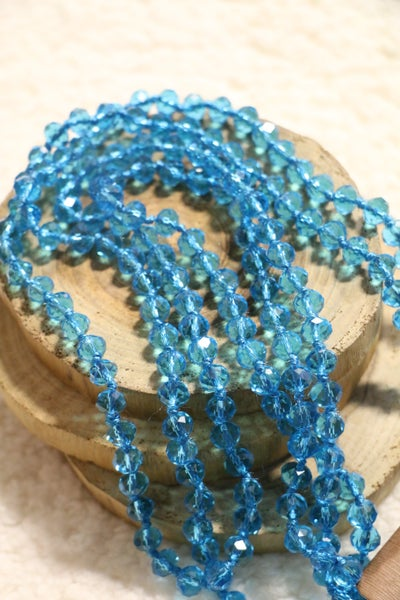Blue Topaz Point Of Perfection Beaded Necklace