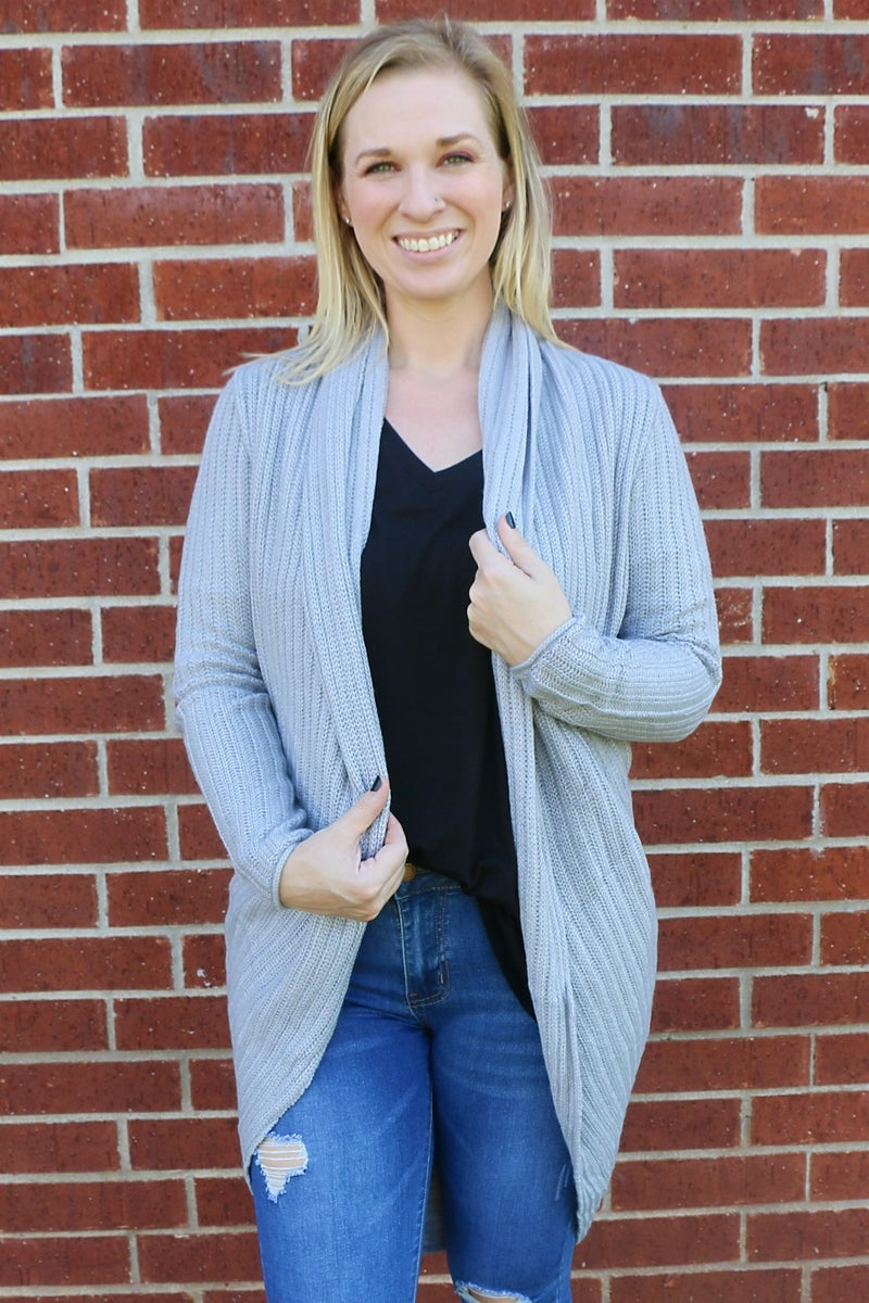 All I Need Scoop Hem Cardigan In Multiple Colors- Sizes 4-20