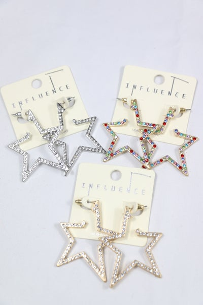 She's A Star Crystal Star Earring In Multiple Colors