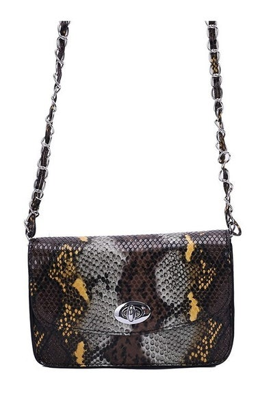 More Than You Think Snake Skin Bag in Multiple Colors