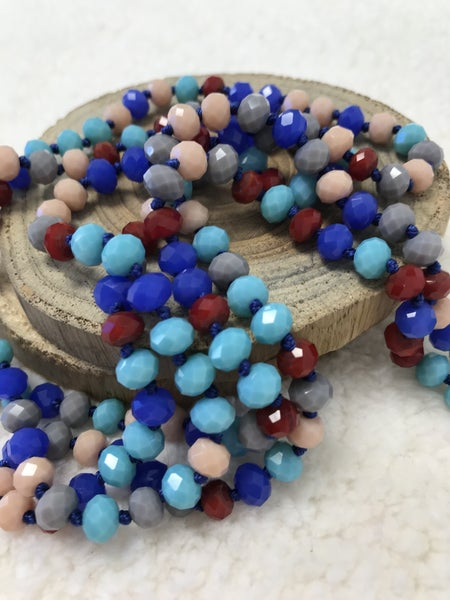 Patriotic Point Of Perfection Beaded Necklace