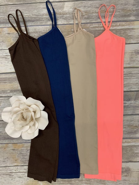 Marry Me Spandex Dress Cami in Multiple Colors  - One Size