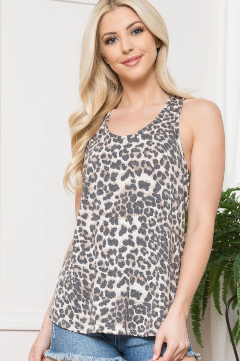 Thanks for the Memories Leopard Racerback Top - Sizes 4-20