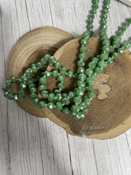 Bamboo Point of Perfection Beaded Necklace
