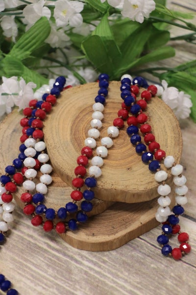 USA Point Of Perfection Beaded Necklace