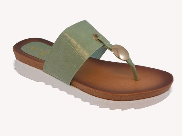 Snap to It Crocodile Slip on Sandal - Sizes 5-10