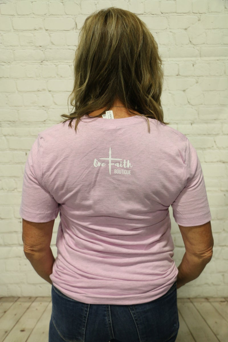 Consider The Lilies May Month Of Ministry Tee In Dusty Lilac- Sizes 4-20