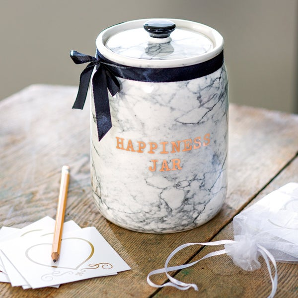 Happiness Jar with Blessing Cards