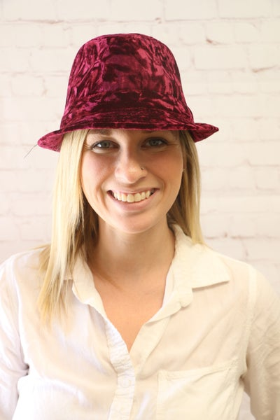 Center Stage Crushed Velvet Fedora in Multiple Colors