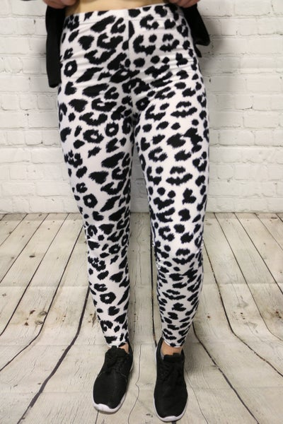 My Own Time White Leopard Leggings- Sizes 4-30