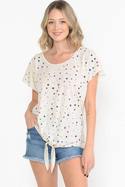 You're a Star Oatmeal Knotted Dolman Tee - Sizes 4-12