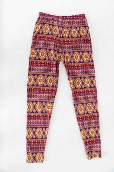 Brought To You By Aztec Print Leggings In Purple -Sizes- 4-20