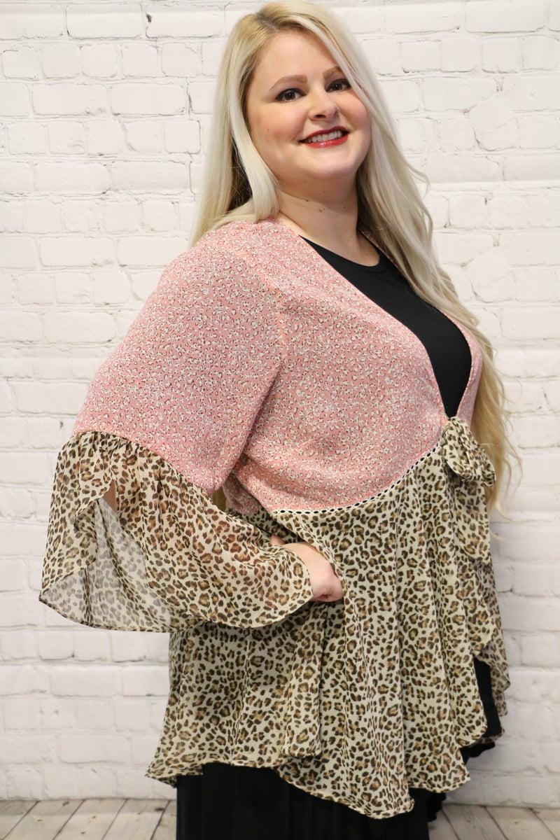 Into You Tie Kimono In Dusty Pink - Sizes 12-18