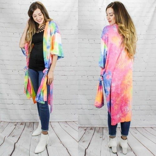 Everybody Knows Tie Dye Cardigan - One Size Fits Most