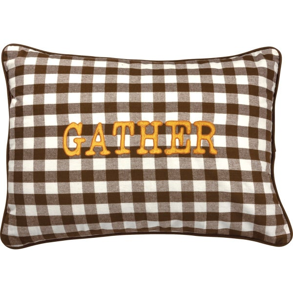 Gather Brown Buffalo Plaid Pillow