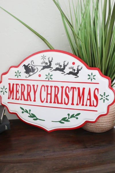 Merry Christmas Enamel Wall Hanging Sign