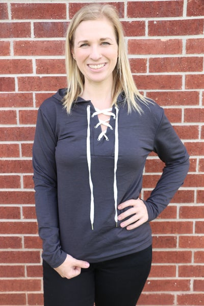 Oh Bless Lace Up Hoodie in Multiple Colors - Sizes 4-18