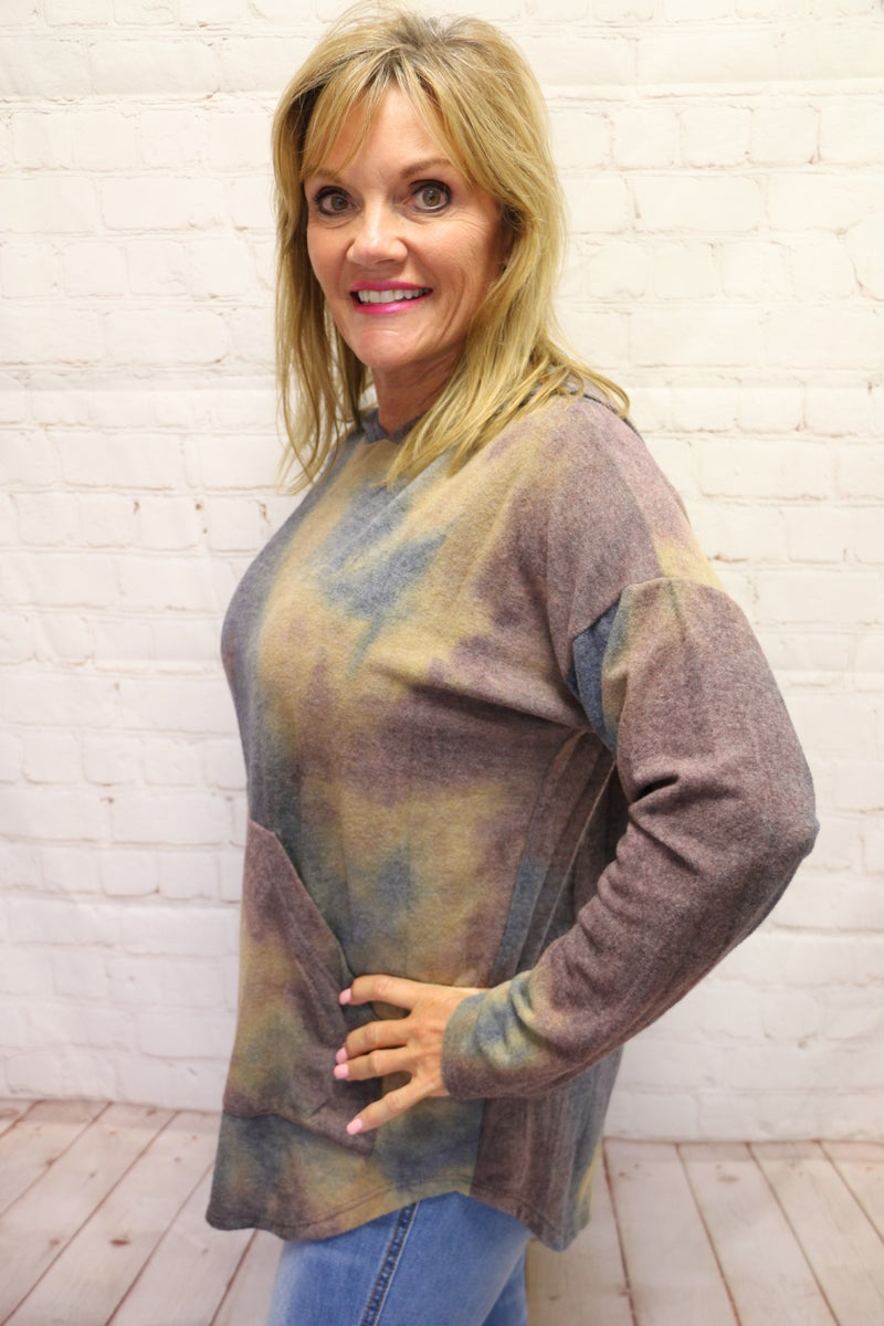 Take Your Time Tie-Dye Hoodie in Multiple Colors - Sizes 4-20