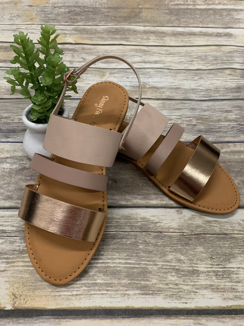 Gone For Good Open Toe Back Strap Sandals In Multiple Colors