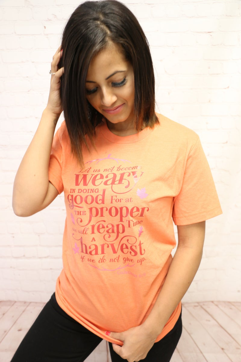 Let Us Not Become Weary November Tee of the Month - Sizes 4-20